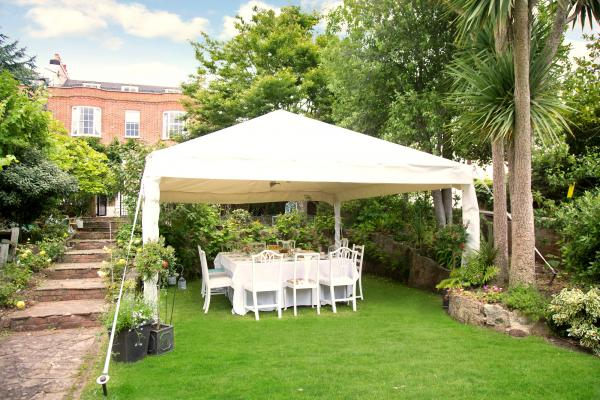 Marquee on Green Grass wedding catering